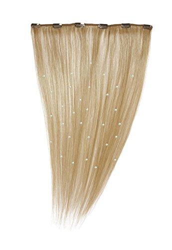American Dream - A19/QFC12/18/16 - 100 % Cheveux Naturels - Pièce Unique Extensions Cristallisées à Clipper - Couleur 16 - Blond Sahara - 46 cm