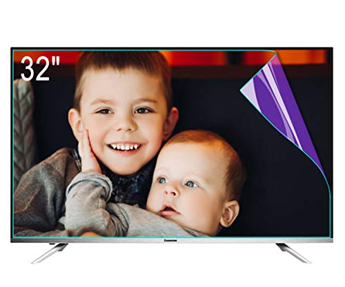 ZSLD Protector De Pantalla De 32 Pulgadas para TV con Luz Azul Película Antirreflejos/Rayones, Bloquea Los Rayos Azules Dañinos Y Protege Tus Ojos (Película Esmerilada)