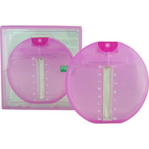 Inferno Paradiso Pink By Benetton For Women. Eau De Toilette Spray 3.3 Ounces