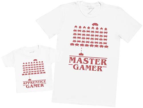 Master Gamer & Apprentice Gamer - En del - Del av set - vit - 6-12 månader - t-shirt till barn