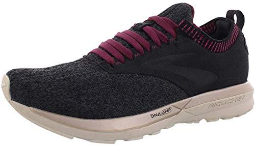 Brooks- Scarpe da corsa da donna, Donna, Glycerin 16, Riflettente nero/bianco/grigio., 6