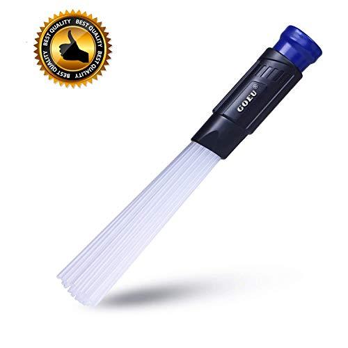 GOEU Vacuumax, Testina Universale per Aspirapolvere, Dust Spazzola Duster Strumenti di Pulizia per Presa d'Aria/Tastiere/Cassetti/Auto/Artigianato/Gioielli/Piante/den
