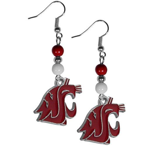 NCAA Siskiyou Sports Womens Washington State Cougars Fan Bead Dangle Earrings One Size Team Color
