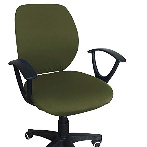 Melaluxe Computer Office Chair Cover - Protective & Stretchable Universal Chair Covers Stretch Rotating Chair Slipcover (Green)