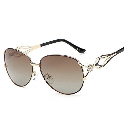 VeBrellen Occhiali da sole polarizzati di guida femminile Eyewear delle donne floreale Decorazione (Balck, 62)