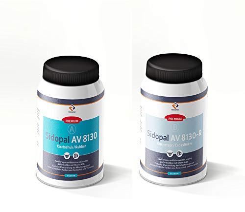 Abformsilikon 2 kg Sidopal AV 8130-R | Dubliersilikon detailgenau | Silicone mit hoher Weiterreißfestigkeit | Silikon Shore A 30 |