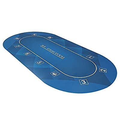 GAMELAND 78 x 39 Inch Portable Rubber Foam Poker Table Top Layout Poker Mat