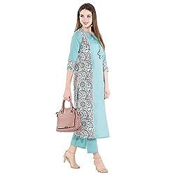 Khushal K Womens Cotton Kurta With Palazzo Pant Set