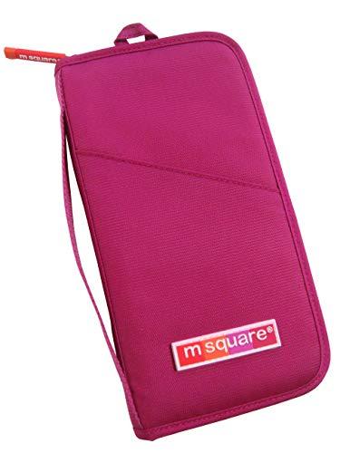 旅行小物 トラベル用品 パスポート入れ 小物入れ カード入れ ポーチ 通帳入れ 小銭入れ 事務用品 ビジネス用品 (pink) (ピンク)