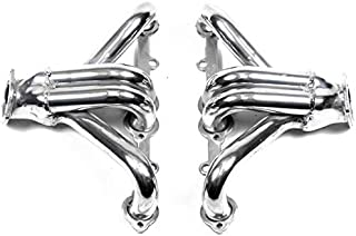 """BRAND NEW PAIR OF FLOWTECH BLOCK HUGGER HEADERS,2.5"""" COLLECTORS,CERAMIC COATED,1.625"""" TUBES,265-400,COMPATIBLE WITH SMALL BLOCK CHEVY"""