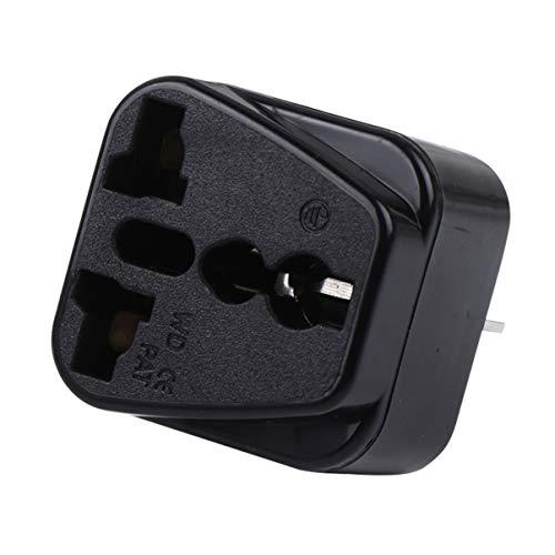 BESPORTBLE Universalstecker Konverter US EU zu UK Stecker Adapter für Weltweite Internationale Reise Handy Ladegerät Und Mehr 13A 250V (Schwarz)