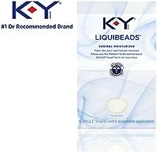 K-Y Liquibeads Vaginal Moisturizer, 6 Beads (Pack of 9)