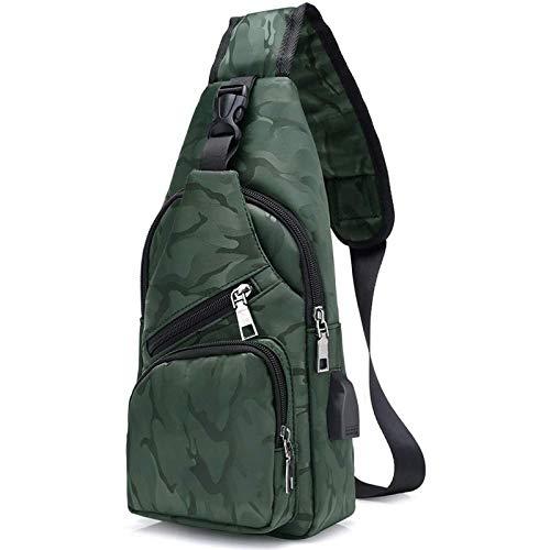 flintronic Zaino Monospalla Sling Bag, Borsa a Spalla Uomo, Borsello Tracolla (includere 1 Cavo USB & 1 Portachiavi)