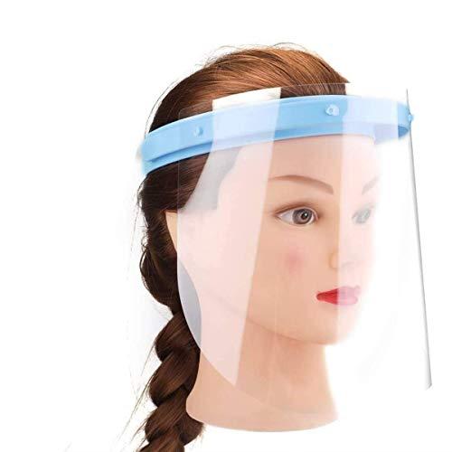 SGODDE 10 PCS Protector Facial de Seguridad, Viseras de Seguridad Transparente Protección Completa,Viseras Lente Facial Transparente Ajustable Ligera Antipolvo, Antivaho, Aantipolvo y Evitar la Saliva