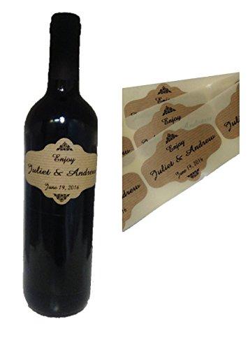 80Etichette Personalizzate di bottiglia di vino