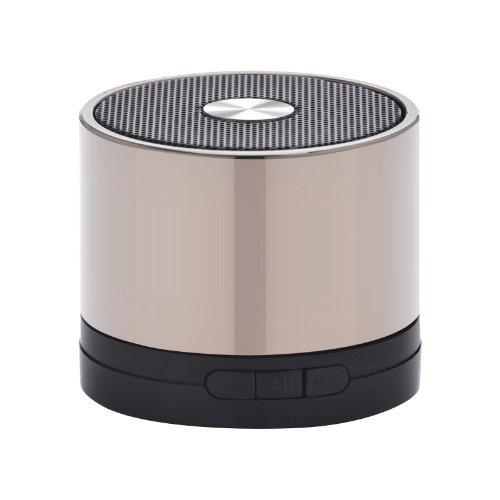 muvit MINISPEAKERCHROME Bluetooth-Lautsprecher mit SD-Microplayer