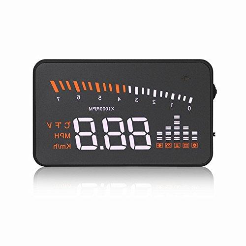 GOFORJUMP Voiture Auto Hud Head Up Affichage OBDII Voiture Interface Numérique Tachymètre Détecteur sur Vitesse LED Pare-Brise Projecteur D'alarme