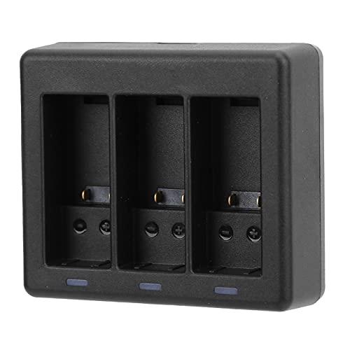 Cargador de batería para cámara, Cargador de batería para cámara de acción, estación de Carga rápida de batería de 3 Canales con protección múltiple, para Gopro 9