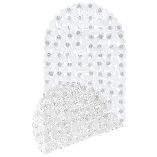 Circul Badewanneneinlage 99 x 39 cm transparent Kieselsteinoptik, Neue Saugnoppen bessere Antirutschfunktion