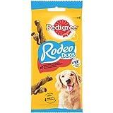 PEDIGREE Rodeo Duos Récompenses au bœuf et saveur fromage pour chien, lot de 10 sachets de 7 friandises (10 x 123 g)