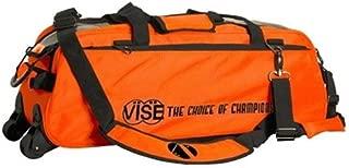 Vise Clear Top 3 Ball Roller Bowling Bag- Orange/Black