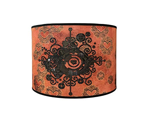 Royal Designs 10' Modern Trendy Decorative Handmade Steampunk Heart Design Hardback Lamp Shade 10 x 10 x 8 - HBC-8066-10