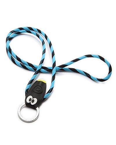 Original Lanyards® Bugs Light stylischer Schlüsselanhänger mit LED Taschenlampe, Schlüsselband, Lanyard in 3 Farben erhältlich - (Made In Portugal) Blau/Schwarz