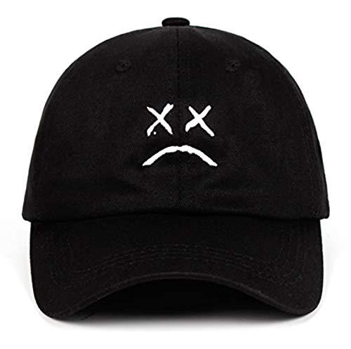Trauriges Gesicht Papa Hut Stickerei 100% Baumwolle Baseballmütze Hip Hop Mütze Golf Love Snapback Damen Herren