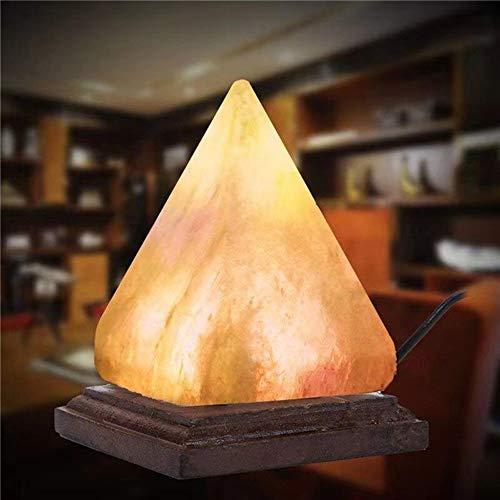LIUXU Lámpara Himalayan Natural, Lámpara de Sal de purificador de Aire, Lámpara de Noche de Cristal de Roca ión, Lámpara de Sal del Color Himalaya