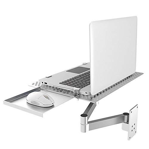ALXDR Soporte para Portátil De Montaje En Pared Soporte De Brazo Ultralargo con Bandeja De Ratón Bandeja para Laptop con Plataforma De Enfriamiento Ventilada