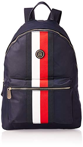 Tommy Hilfiger Damen Poppy Backpack Corp Umhängetasche, Weiß (Corporate), 40x31x13cm