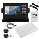 tongzhou GPS Navigation for Boat, 5 Inches Marine Satellite Navigator with Backlight Color LCD Display, Waterproof XF-520 Dual-Mode Positioning Marine GPS Chartplotters