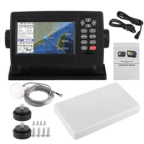 Localizador GPS marino LCD, Navegador GPS satelital marino de 5 pulgadas Pantalla LCD a color XF-520 Posicionamiento de modo dual Carta de barco Accesorio para barco