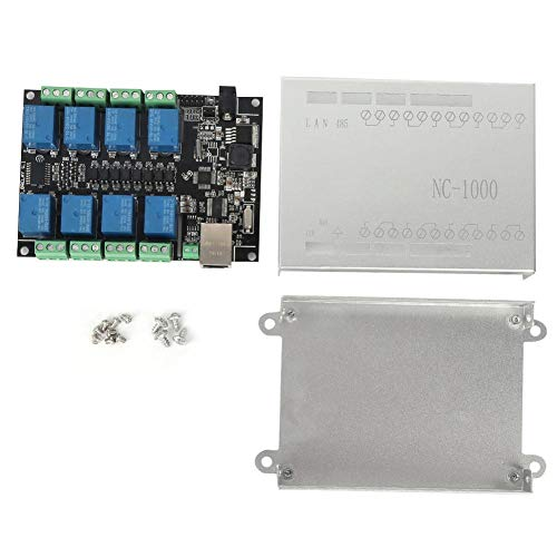 Jarchii Control Board, PLC Control Board Network Relay RJ45 8-Channel NC-1000 Programmable Logic Controller for WiFi Remote Control Programmable Logic