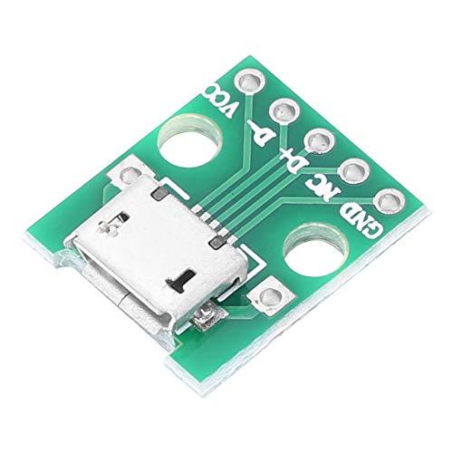 Placa adaptadora micro-USB, DiP de tamaño pequeño portátil ligero de 2,54 mm, para el hogar soldado de fábrica