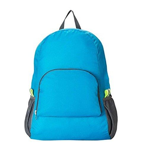 Weimay Rucksack, faltbar, Nylon, 25 l, wasserdicht, kompakt, leicht, Schule, Wandern, Reisen, Camping, Sport, Blau