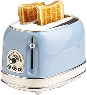 Mopoq Simplicity Multi-Function Bread Toaster PTC Uniform Heating Adjustable Strong 2 Slice Toaster Removable Crumb Tray D...