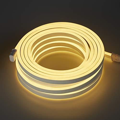 Hellum 416039 LED Neon Lichtschlauch warmweiß / 1200 LEDs / 10 m/innen & außen/Zuleitung 1,5 m