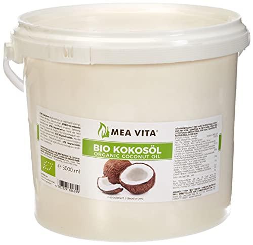 Meavita Aceite De Coco Orgánico, Insípido (Desodorizado) Paquete De 1, 5000 ml