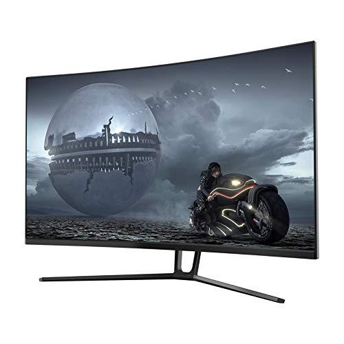 LC-Power 32 Zoll Gaming Curved Monitor (QHD, 3 HDMI, DisplayPort, Free-Sync, 144 Hz, 2560x1080, 1500R)