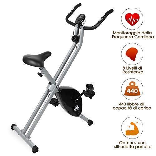 EVOLAND Bicicleta Estática Plegable, Bicicleta Estática de