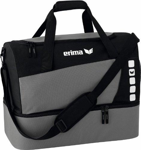 erima Sporttasche mit Bodenfach, granit/schwarz, S, 28 Liter, 723339