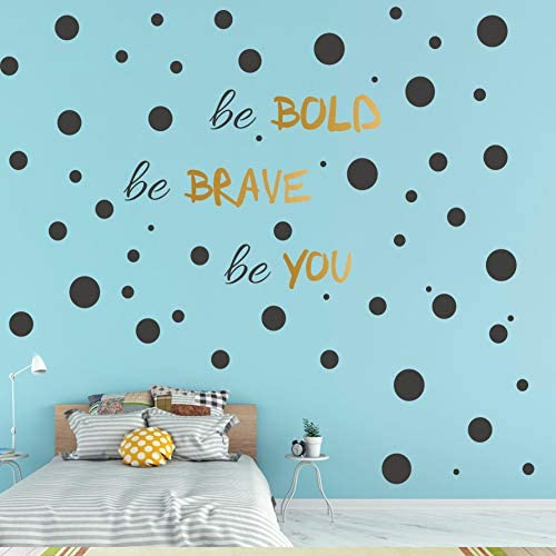 193 PCS Black Dot Wall Decal Inspirational Quote Easy to Peel Easy to Stick Removable Vinyl product image