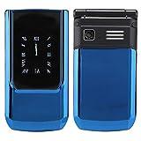 Telefonos moviles con tapa, teléfono móvil con función de teléfono móvil Teléfono dual con pantalla táctil para adultos mayores, teléfono móvil con botón grande Teléfono móvil para ancianos(Azul)