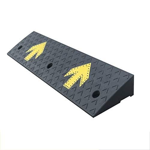 Gummi und Kunststoff Rampen Fixable Rampen Abstellrampen/Schwarz mit Gelb-Pfeil-Muster Höhe: 4cm, 5CM, 6cm, 7cm, 8cm, 9cm, 10CM (Color : Black+Yellow, Size : 100 * 25 * 4CM)