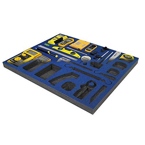 Shadow Foam - Azul - Organizador para la caja de herramientas | Pieza de esumpa (30mm)
