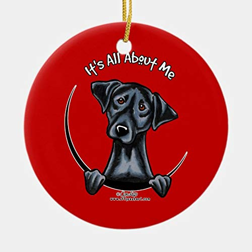 Black Lab Its All About Me Ornament Personalized 3 Ihch Ceramic Ornament Christmas Tree Decration