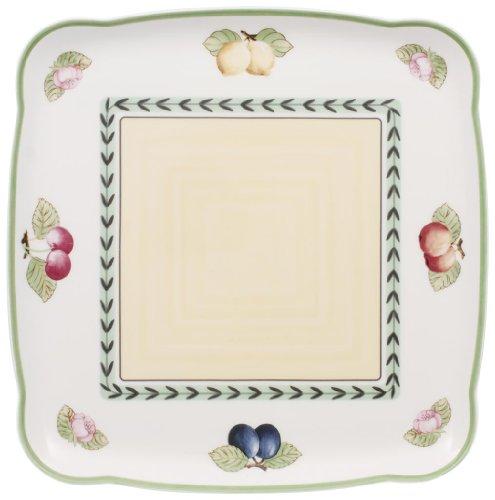 Villeroy & Boch Charm & Breakfast French Garden Plat de service, 30 cm, Porcelaine Premium, Blanc/Multicolore