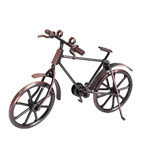 Desktop Crafts Gobesty Vintage-Metall-Fahrrad, Metall Retro klassische handgemachte Fahrrad Ornaments Desktop-Crafts Kunstschmiede Bike Figuren Bike Miniatur-Ausgangsdekoration for Kinder Spielzeug Ge