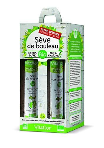 VITAFLOR Sève de bouleau Bio | Extra pure 100% fraîche | Pack 4X250ml | Format 20 jours